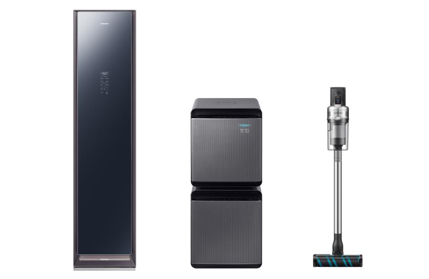 삼성전자 의류청정기 '에어드레서', 공기청정기 '무풍큐브', 무선청소기 '제트' 제품 이미지