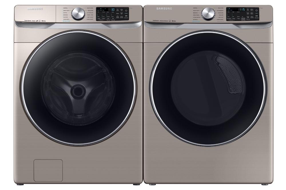 삼성전자 세탁기(좌, 모델명: WF45R6300AC)와 건조기(우, 모델명: DVE45R6300C) 세트