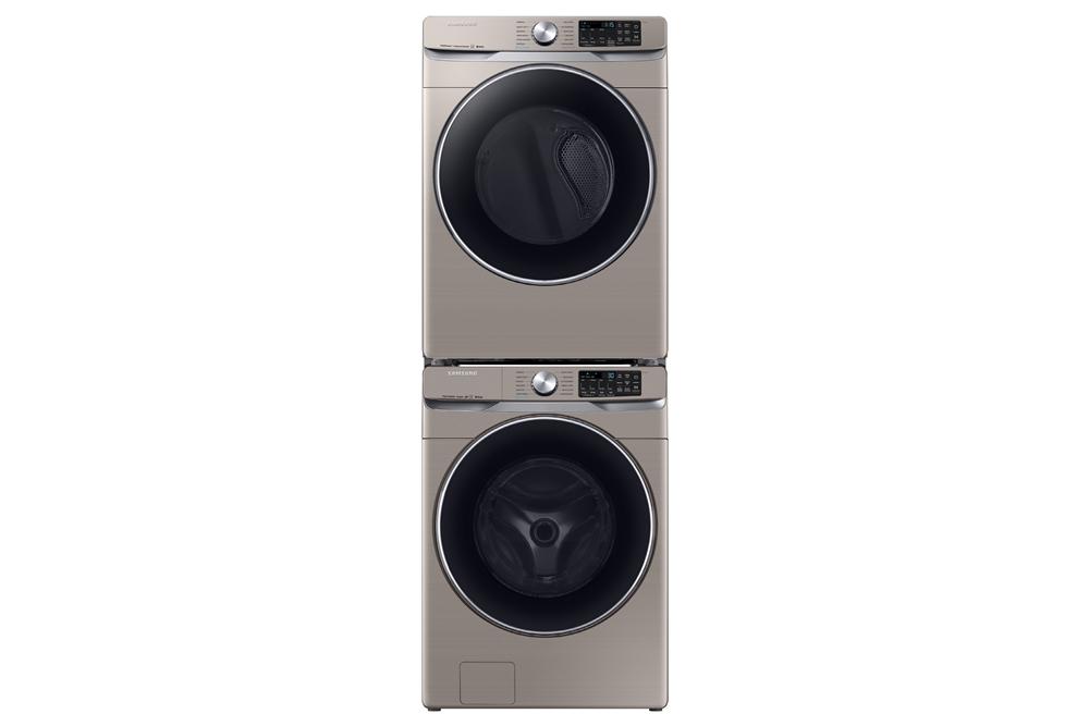 삼성전자 세탁기(하, 모델명: WF45R6300AC)와 건조기(상, 모델명: DVE45R6300C) 세트
