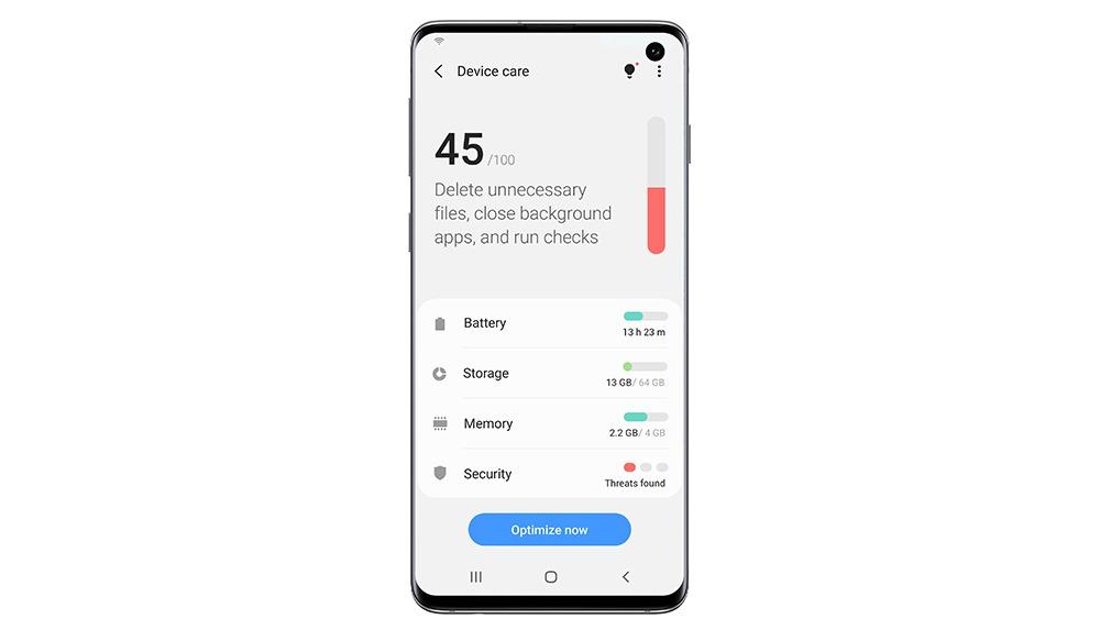 ▲ 툴디바이스 케어로 스마트폰의 성능을 효율적으로 관리할 수 있다