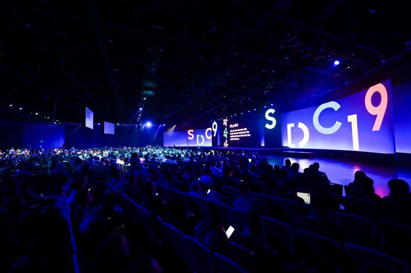 10월 29일(현지시간) 미국 캘리포니아주 새너제이 컨벤션 센터에서 진행된 '삼성 개발자 콘퍼런스 2019' 현장 사진