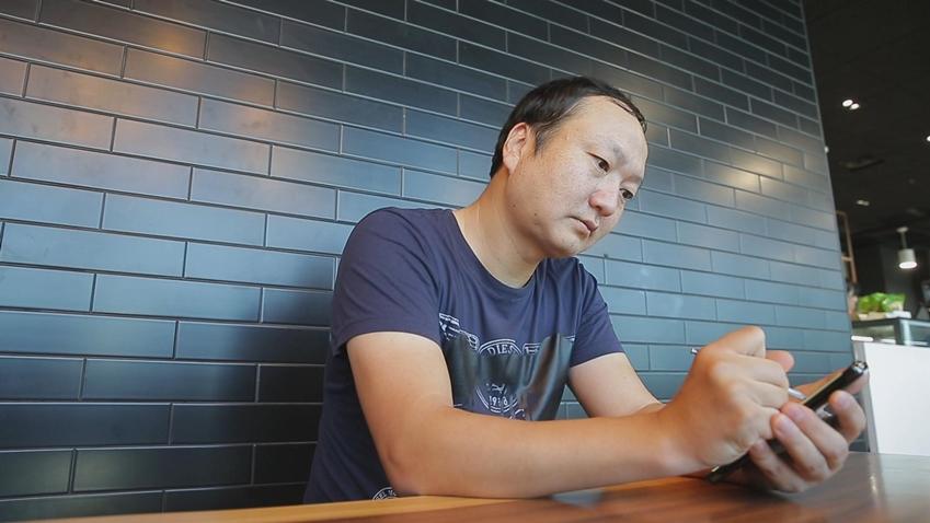 ▲ '프사(프로필 사진)' 그리는 삼성전자 박종우 씨
