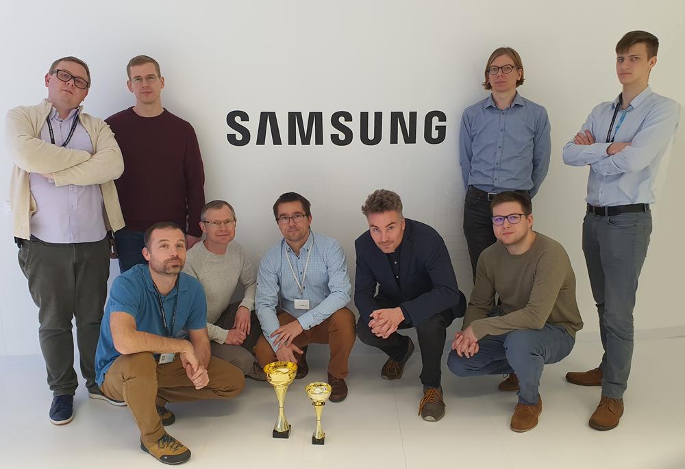 2019 구술언어번역 국제워크숍 경진대회 우승을 차지한 삼성전자 폴란드 연구소 직원들