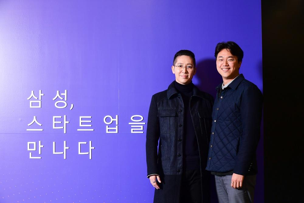 삼성 스타트업을 만나다 / ▲ (왼쪽부터) SM 엔터테인먼트 퍼포먼스 디렉터 심재원 씨, 카운터컬처컴퍼니 대표 임진환 씨