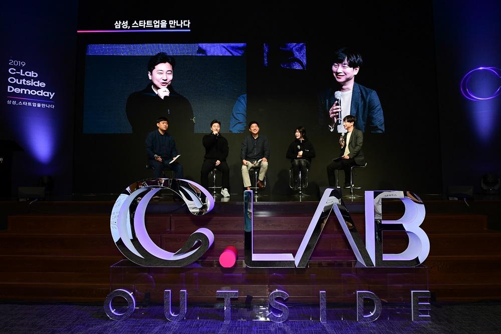 2019 C-Lab Outside Demoday 삼성, 스타트업을 만나다 삼성, 스타트업을 만나다 /C랩 데모데이 패널 세션 토의하는 모습 / C.LAB OUTSIDE