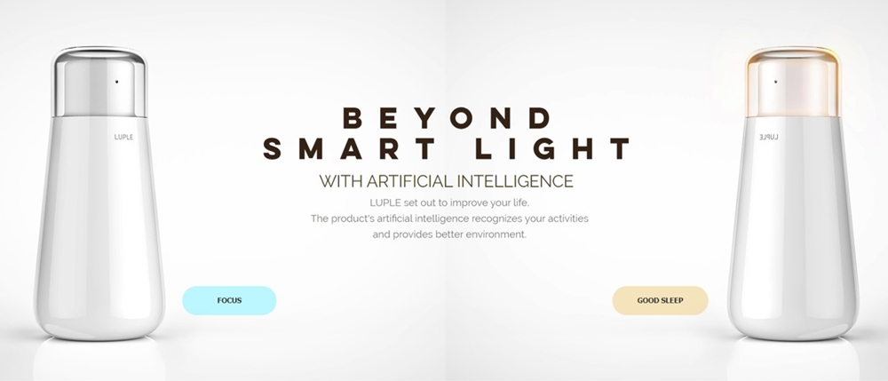 생체 리듬 케어를 위한 AI 기반 라이팅 디바이스를 개발한 '루플'