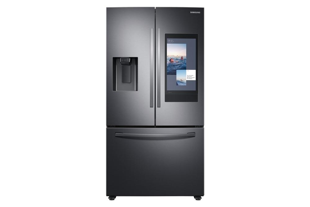 삼성전자가 7일(현지시간)부터 10일까지 미국 라스베이거스에서 열리는 세계 최대 전자 전시회CES 2020에서 5년 연속 CES 혁신상을 수상한 '패밀리허브' 냉장고 신제품을 공개한다. 사진은 삼성 2020년형 패밀리허브 미국향 제품(모델명: RF27T5501SG)