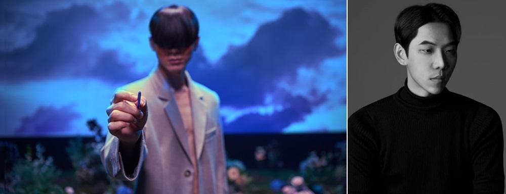▲ '갤럭시 북 플렉스' 편의 한 장면(왼쪽)과 해당 영상을 연출한 성휘 감독(오른쪽)