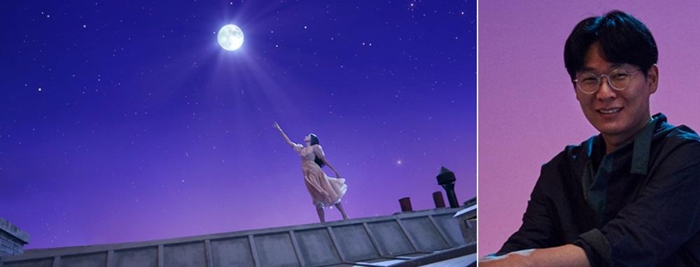 ▲ '갤럭시 북 이온' 편의 한 장면(왼쪽)과 해당 영상을 연출한 장감독(오른쪽)