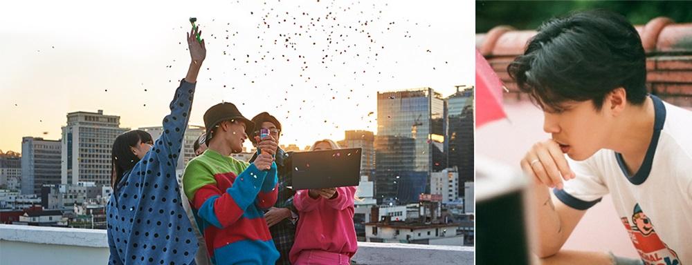▲ '갤럭시 북 S' 편의 한 장면(왼쪽)과 해당 영상을 연출한 이상덕 감독(오른쪽)
