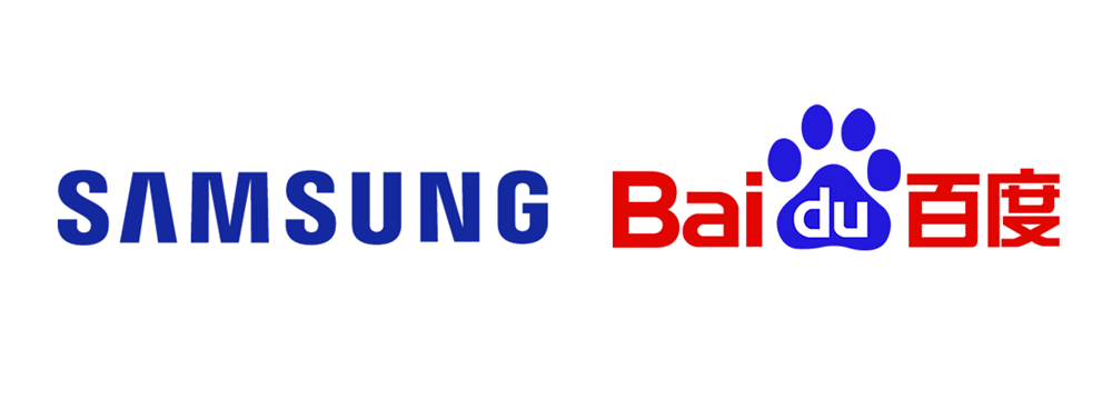 SAMSUNG Baidu 로고