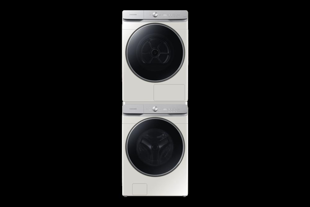 삼성전자 그랑데 AI 세탁기(아래쪽, 모델명:WF23T9500KE)·건조기(위쪽, 모델명:DV16T9720SE) 신모델