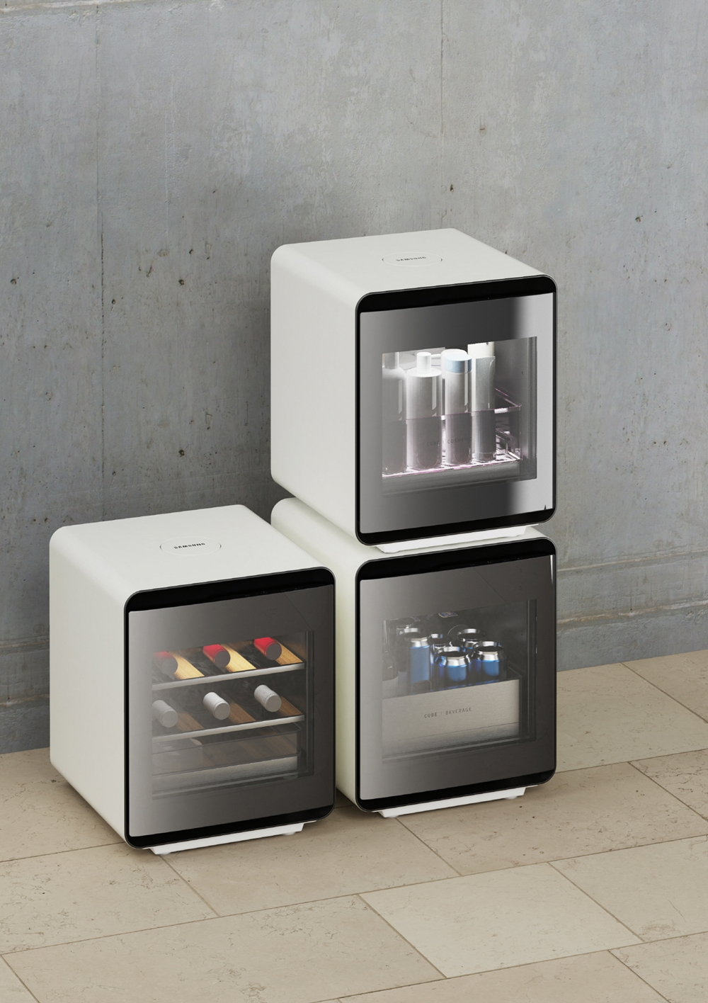 삼성전자가 7일(현지시간)부터 10일까지 미국 라스베이거스에서 열리는 세계 최대 전자 전시회 'CES 2020'에서 새로운 콘셉트의 라이프스타일 가전을 대거 선보인다. 사진은 삼성전자 큐브 냉장고 라이프스타일 사진