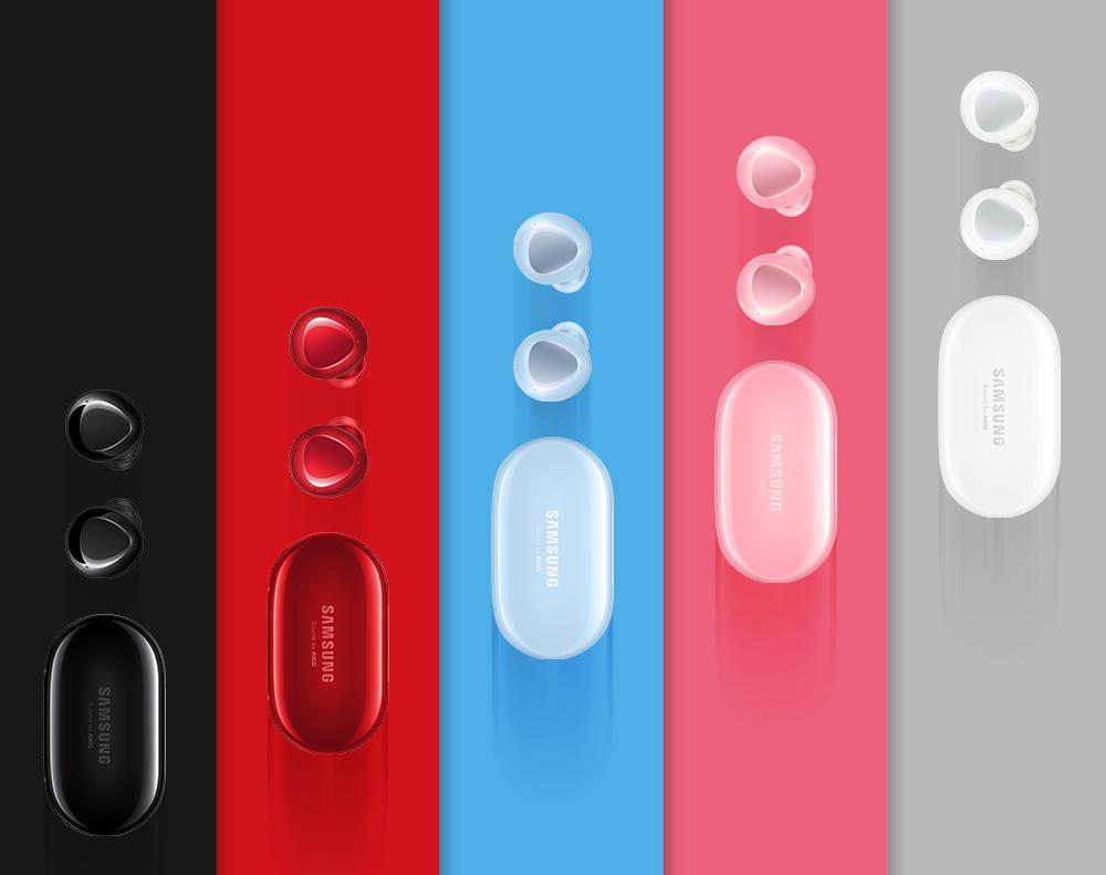 무선 이어폰 갤럭시 버즈+는 한층 향상된 품질로 혁신적인 오디오 경험을 제공하는 것은 물론 갤럭시 S20와 조화를 이루는 다섯 가지의 다양한 컬러를 제공한다.