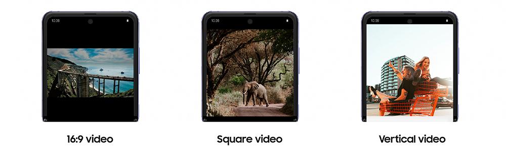16:9 video / Square video / Bertical video