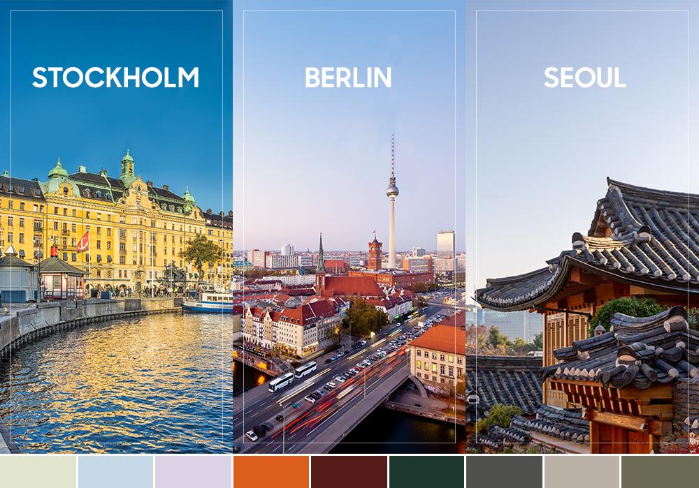 STOCKHOLM BERLIN SEOUL / 비스포크 컬러 팔레트