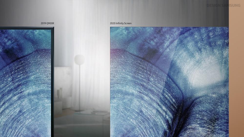 ▲기존 제품(왼쪽)과 비교할 때 인피니티 스크린(오른쪽)의 베젤이 확연히 얇음을 알 수 있다.