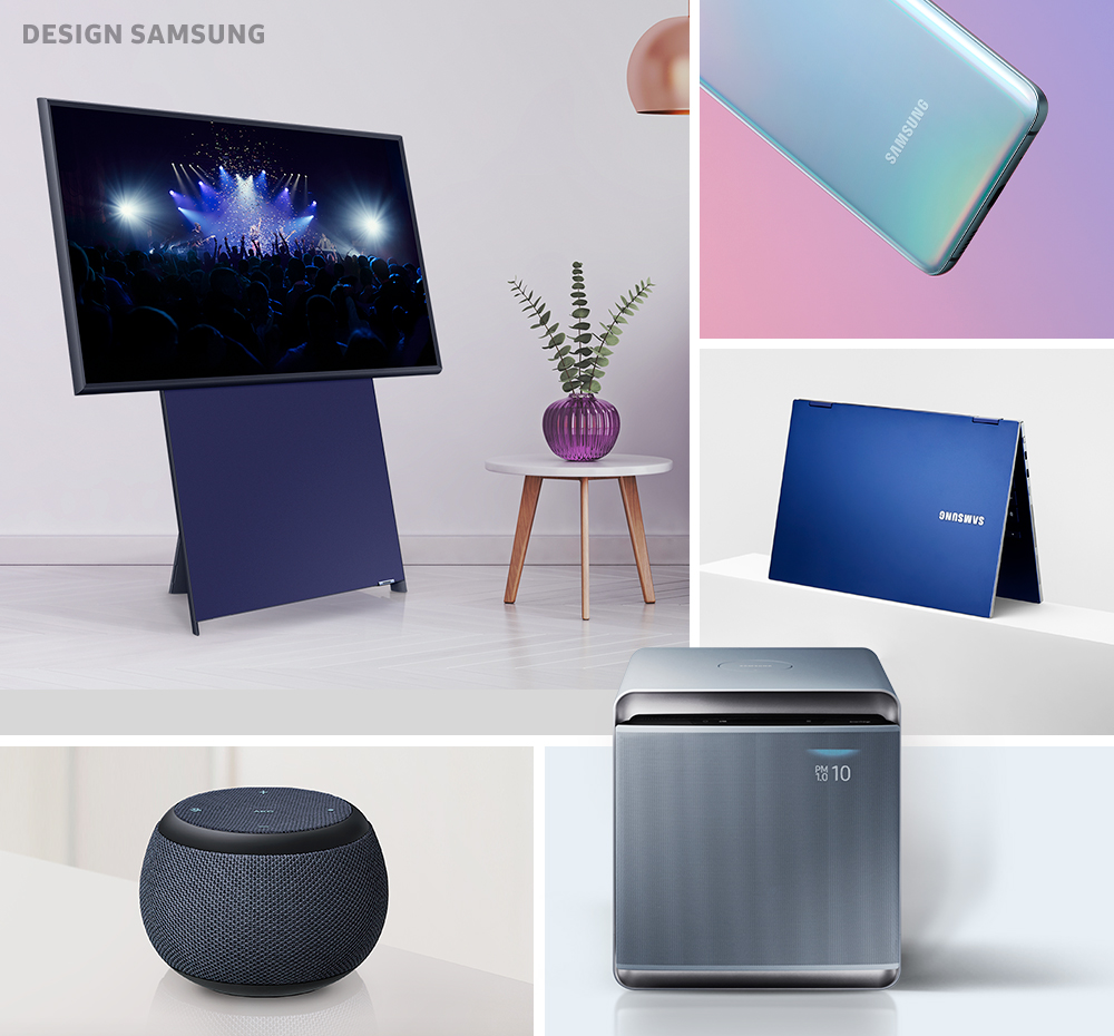 삼성전자의 블루 컬러 제품들