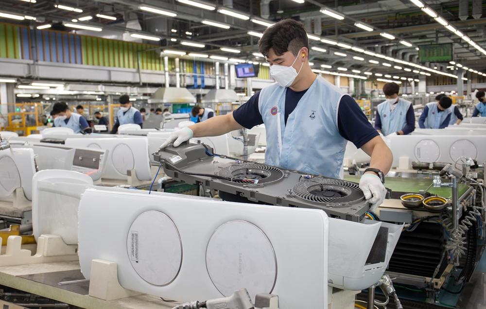 삼성 에어컨 생산라인 풀가동(1)