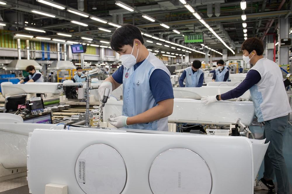 삼성 에어컨 생산라인 풀가동(2)