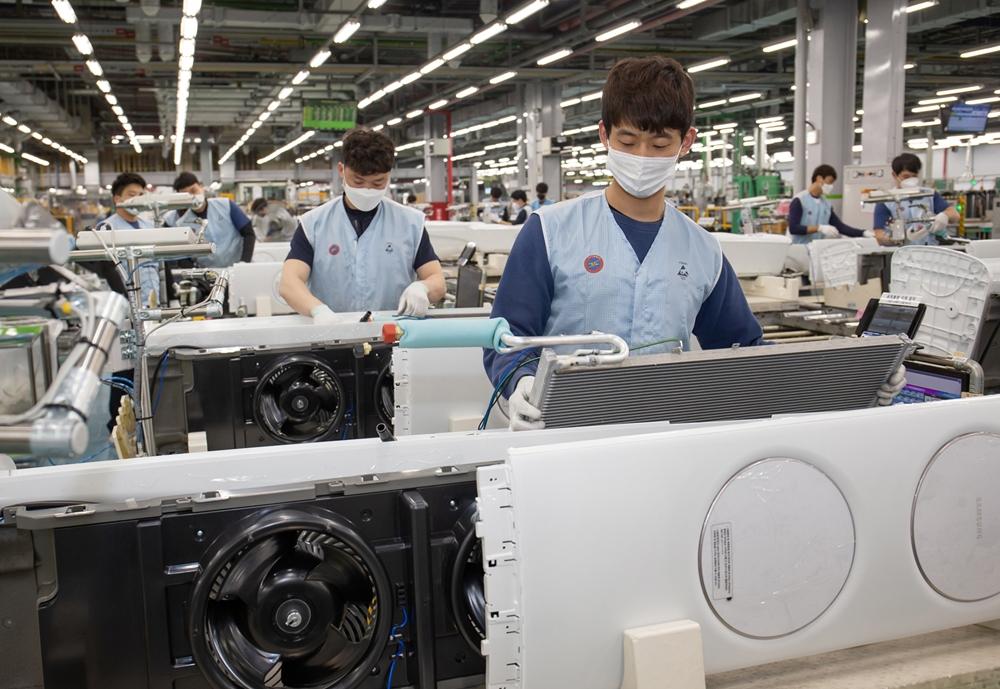 삼성 에어컨 생산라인 풀가동(3)