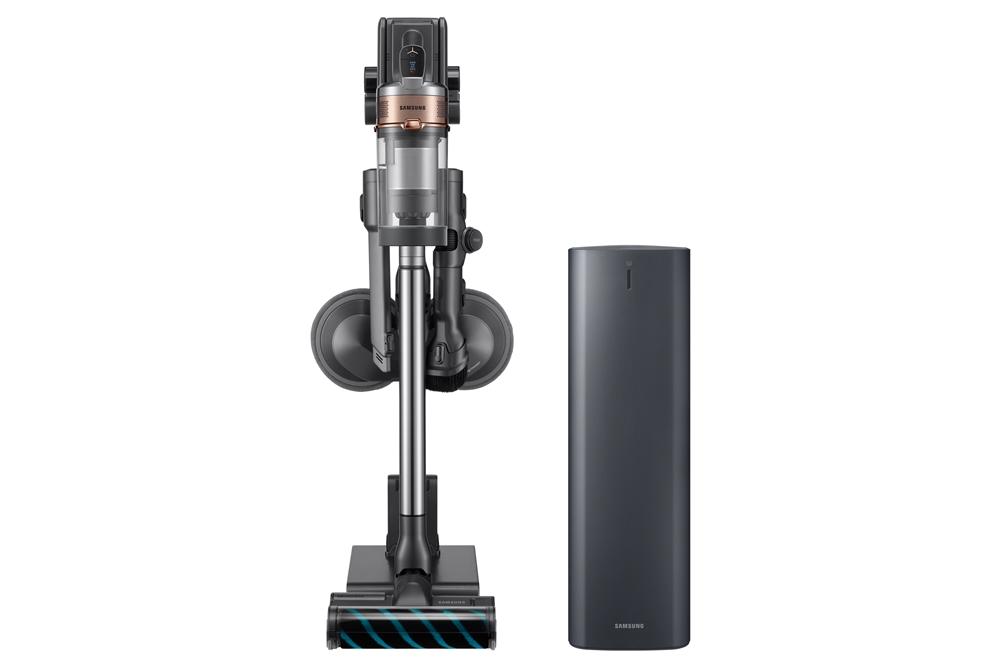 2020년형 프리미엄 무선 청소기 '삼성 제트' (좌측, 모델명:VS20T9278S7), '청정스테이션' (우측, 모델명:VCA-SAE90A)