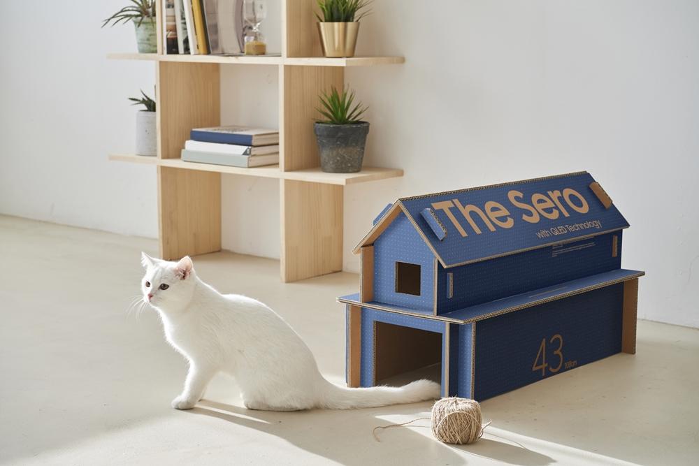 ▲ 고양이 집으로 활용 가능한 에코 패키지