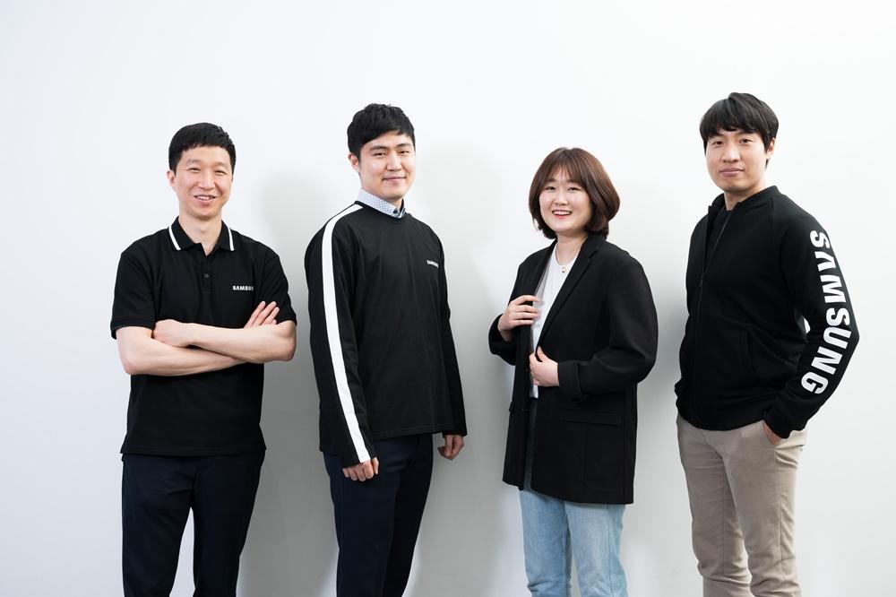 ▲ 삼성전자 무선사업부 (왼쪽부터) Retail팀 허령·지수환·강연진·이일용 씨