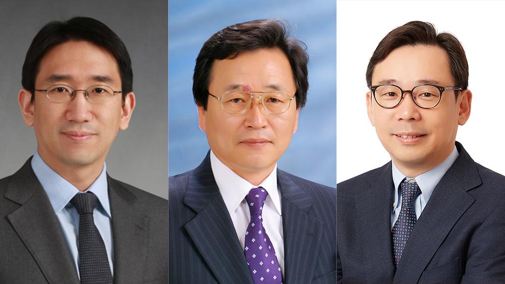 왼쪽부터 KAIST 김정원 교수, 경북대 허남호 교수. KAIST 신의철 교수