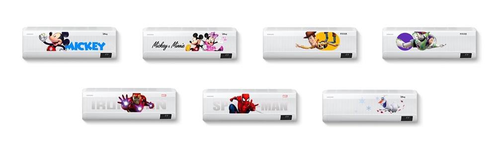 삼성 무풍에어컨 '디즈니 컬렉션' 제품사진