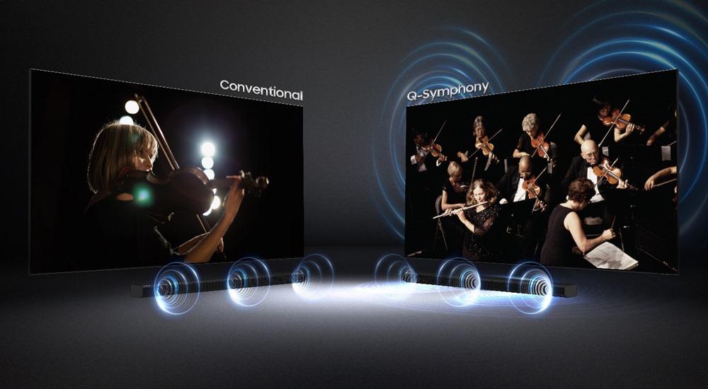 Conventional / Q-Symphony Q-Symphony로 들었을 때는 위와 아래에서 소리가 다 나온다