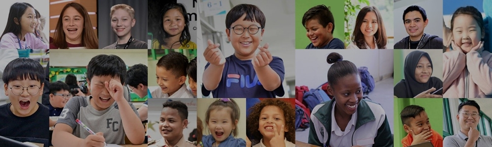 삼성전자의 청소년 교육의 수혜를 받은 다양한 아이들의 모습