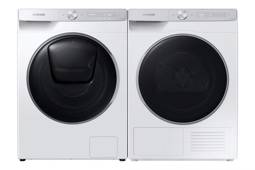 삼성 유럽향 세탁기(좌), 건조기(우) 제품 사진