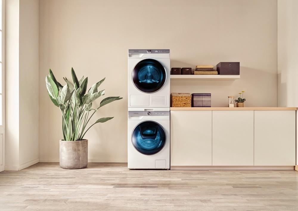 삼성 유럽향 세탁·건조기 라이프스타일 사진
