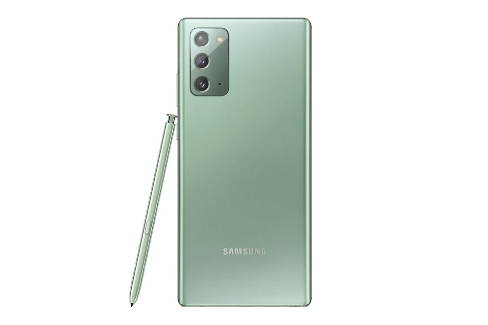 삼성 '갤럭시 노트20' 미스틱 그린 색상 제품 이미지