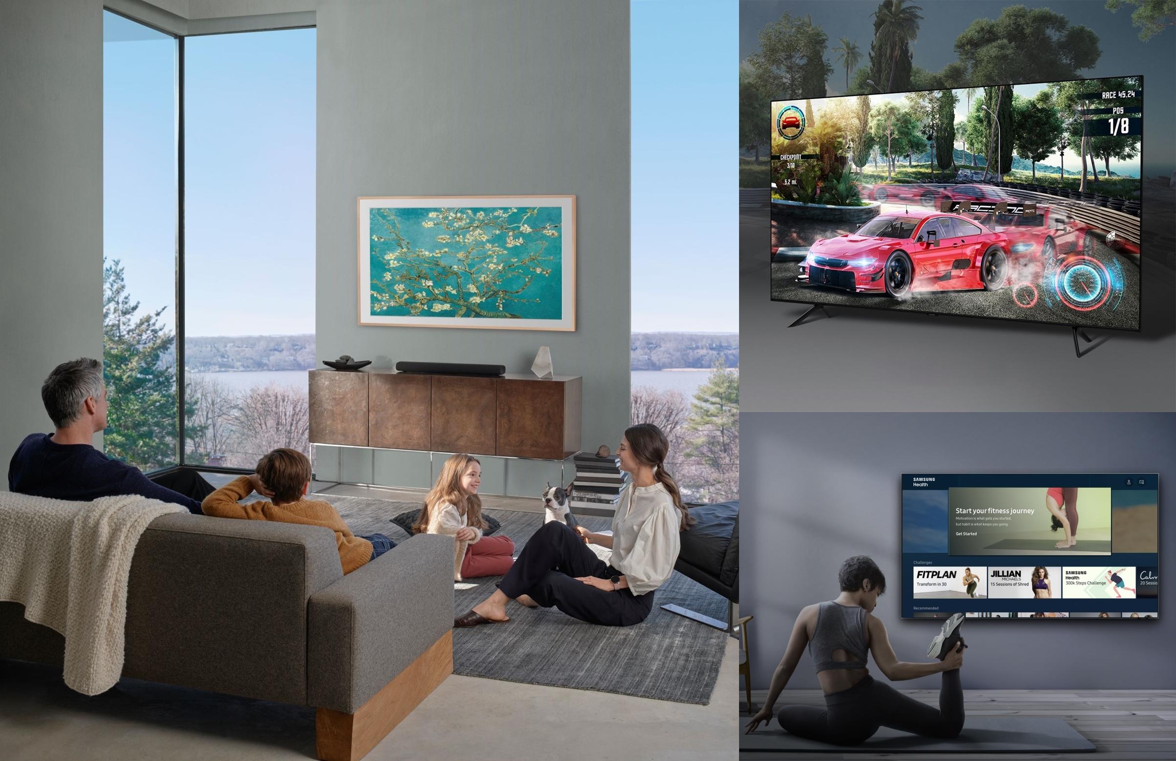 ▲ 예술, 피트니스, 게임 등 삼성 스마트TV 플랫폼의 다양한 라이프스타일 서비스