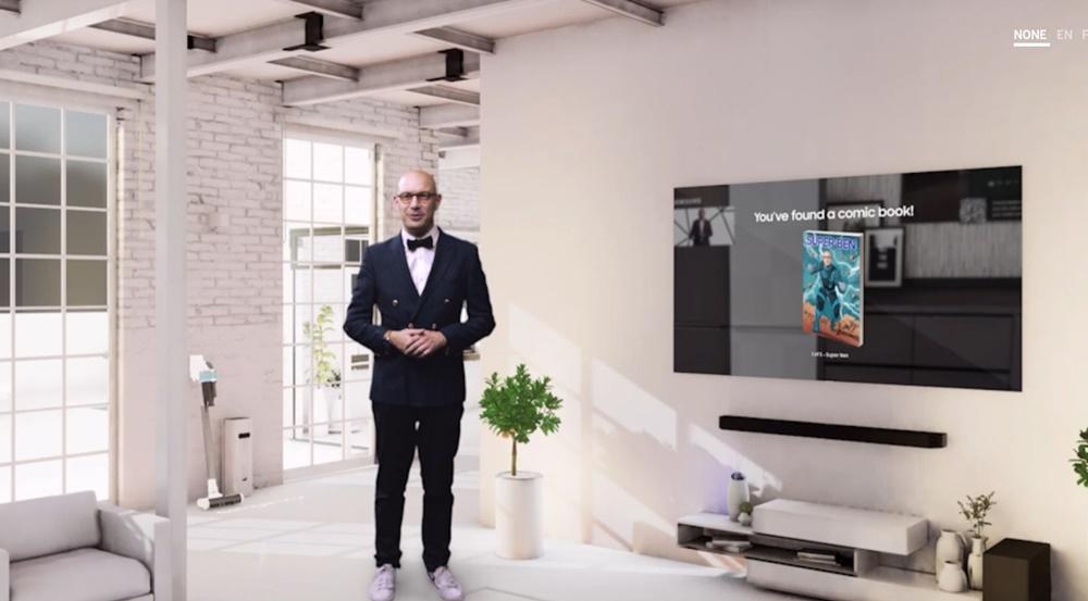 삼성전자가 개최한 버추얼 프레스 콘퍼런스 'Life Unstoppable'에서 삼성전자 유럽총괄 마케팅 책임자 벤자민 브라운(Benjamin Braun) 상무가 오프닝 연설을 하고 있다.