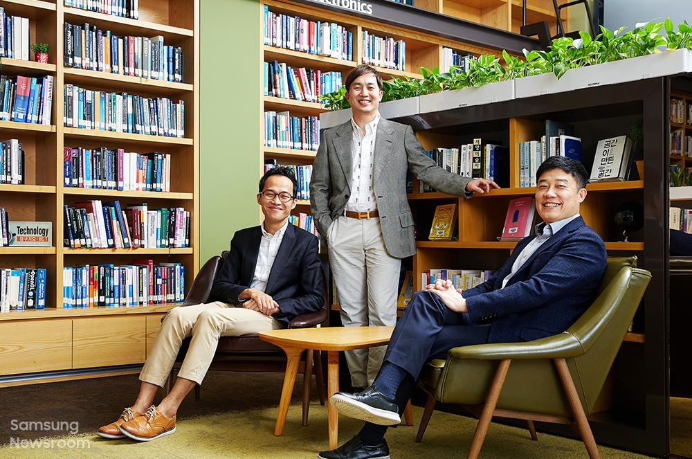 삼성전자 종합기술원 안중권 전문 연구원, 원강희 전문 연구원, 이홍석 마스터(왼쪽부터)