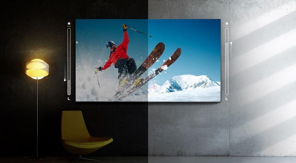 QLED 8K의 어댑티브 픽쳐 기능을 화면 밝기 대비로