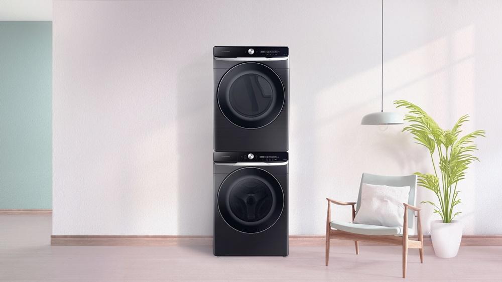 인공지능 기능을 적용한 삼성 드럼 세탁기·건조기 미국향 신제품 라이프스타일 사진