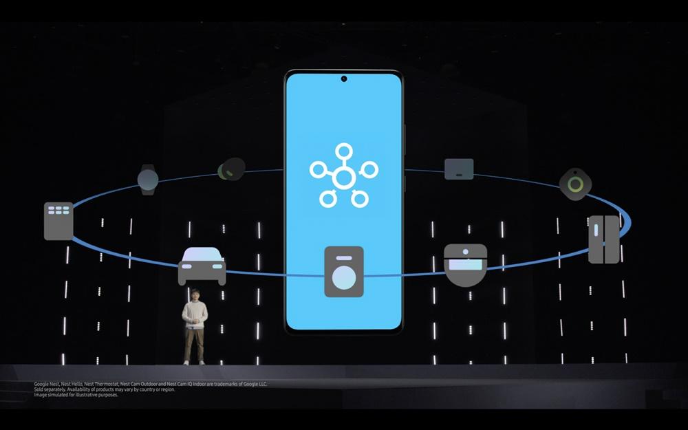 삼성전자 무선사업부 GDC센터 정해윤(Kevin Chung) 프로가 스마트싱스를 소개하는 모습