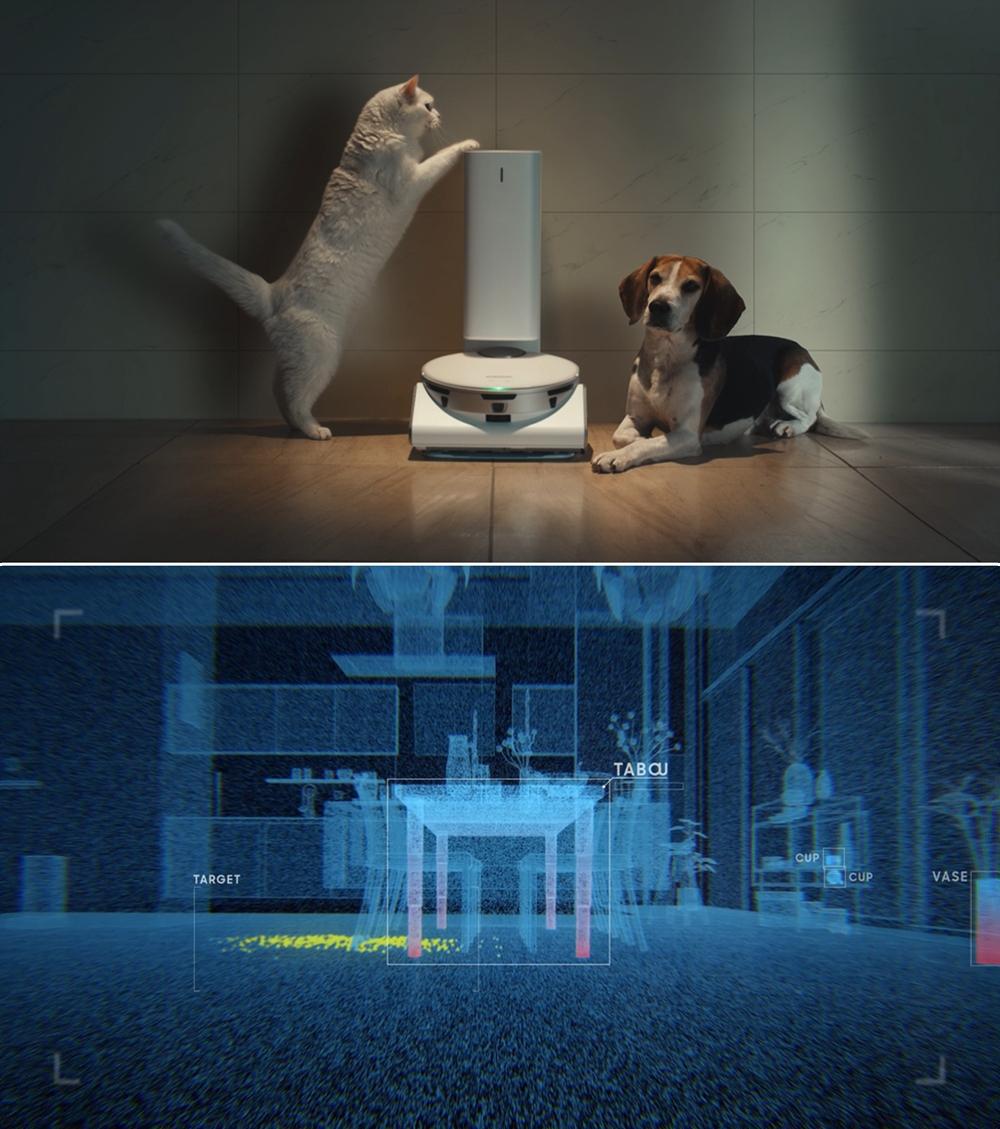 펫 가전과 인공지능 가정용 서비스 구현 화면