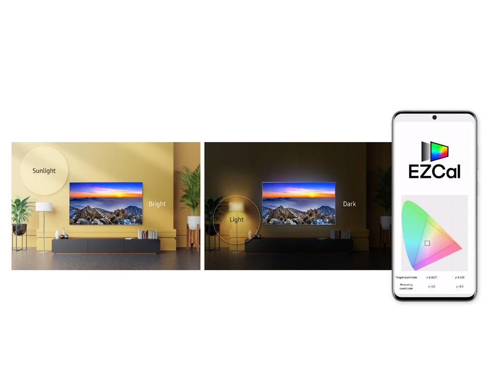 스마트폰을 활용해 영화관 화질을 그대로 집에서 즐길 수 있도록 해주는 TV 화질 조정 솔루션 '이지칼'