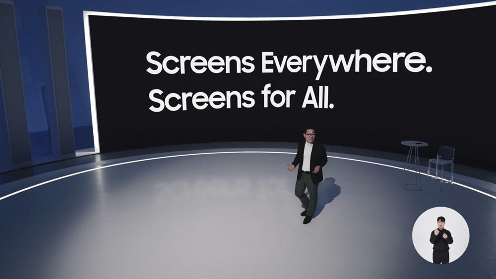 삼성전자 영상디스플레이사업부장 한종희 사장이 온라인으로 진행된 '삼성 퍼스트 룩 2021(Samsung First Look 2021)' 행사에서 삼성전자 TV 신제품과 전략을 설명하고 있다.