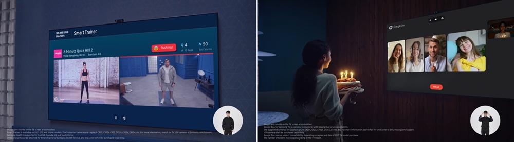 삼성 스마트 헬스 트레이너, 구글 듀오 이용 모습