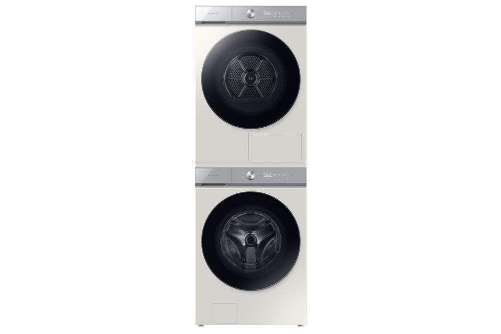 뉴 그랑데 AI 세탁기(하단)·건조기(상단) 제품사진(그레이지 색상)