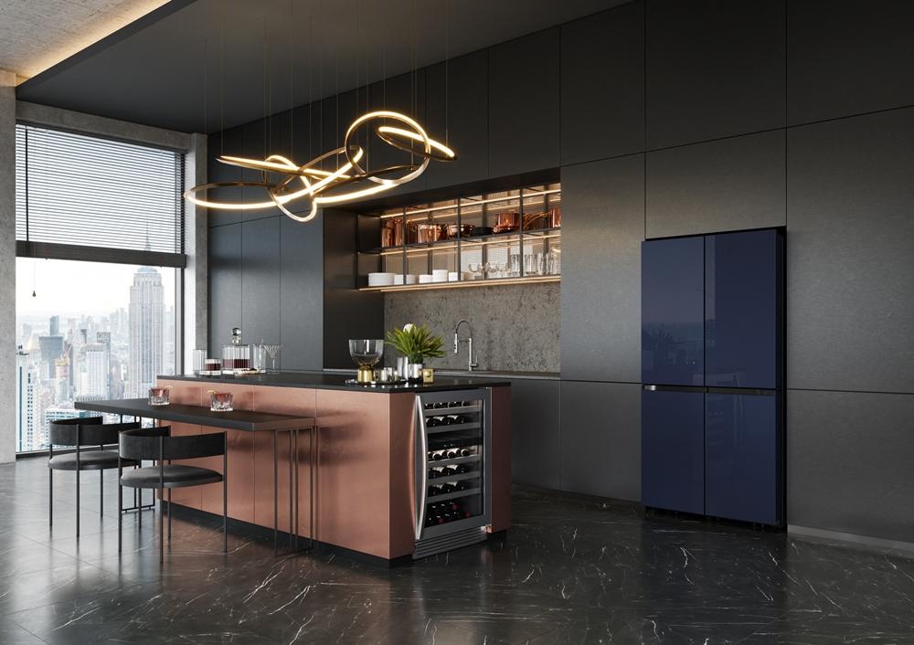 삼성 맞춤형 냉장고 '비스포크 4D 플렉스(BESPOKE 4D Flex)' 미국향 신제품 라이프스타일 사진