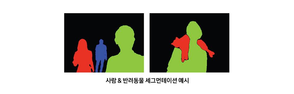 즉각적인 사람 & 반려동물 세그먼테이션 예시