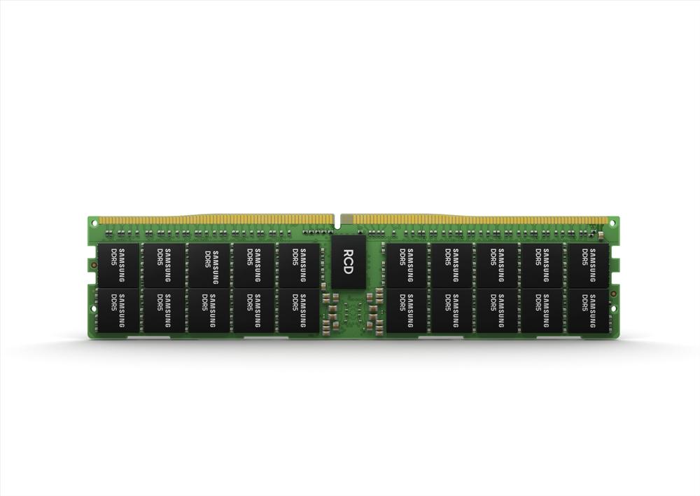 정면으로 보이는 삼성전자 512GB DDR5
