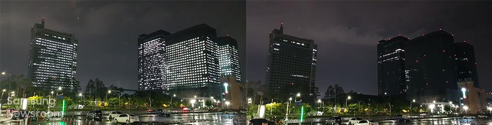 2020년 소등 행사에 참여한 삼성전자 수원 디지털 시티 모습